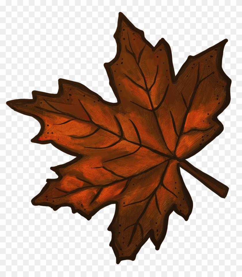 Brown Leaf Clip Art - Brown Maple Leaf Clip Art #26975