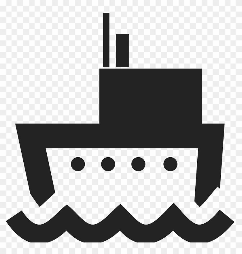 Bold Boat Silhouette Stamp - Boat #26973