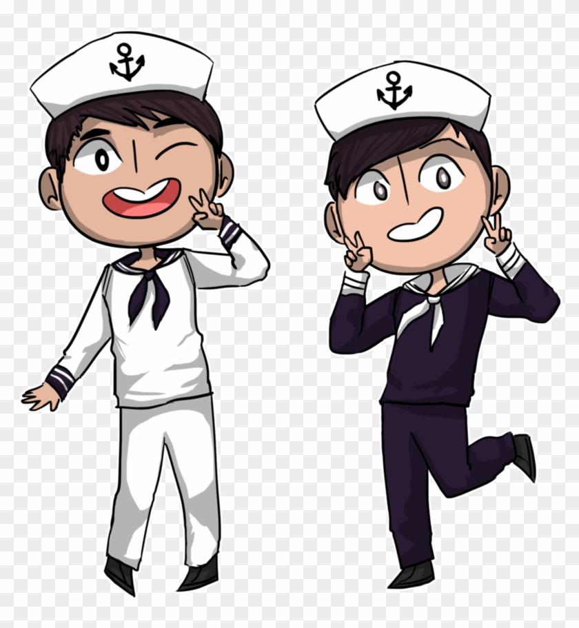 Sailor Dan And Phil By Nautical-anchors - Dan And Phil #26978