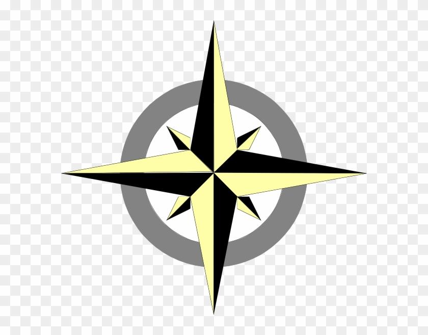 Compass Amarillo Clip Art At Clker - Clip Art #26980