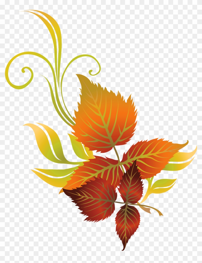 Fall Leaf Clip Art - Transparent Autumn Leaf Clip Art #27003
