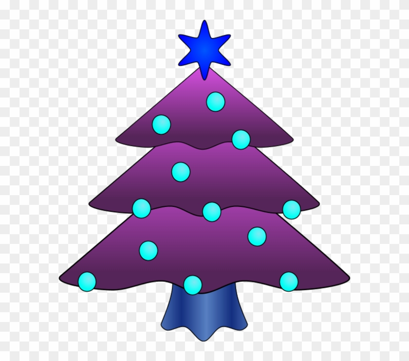 Christmas Clipart Purple - Purple Christmas Clip Art #27007