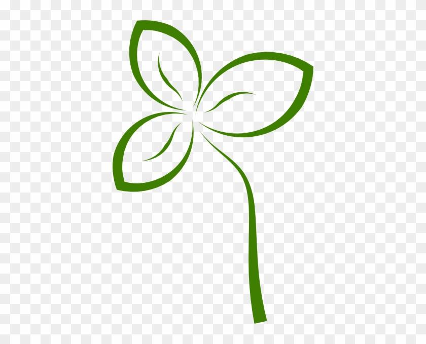 Geen Leaf Outline Clipart - Green Leaf Outline Png #27031
