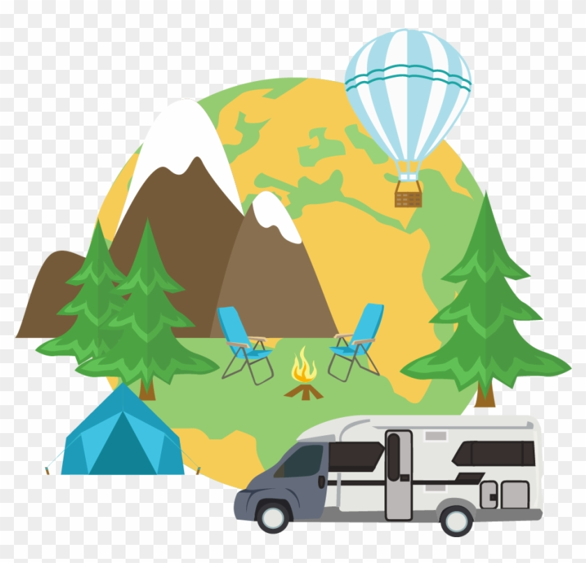 Nautical Tourism Camping Clip Art - Tourism #27037