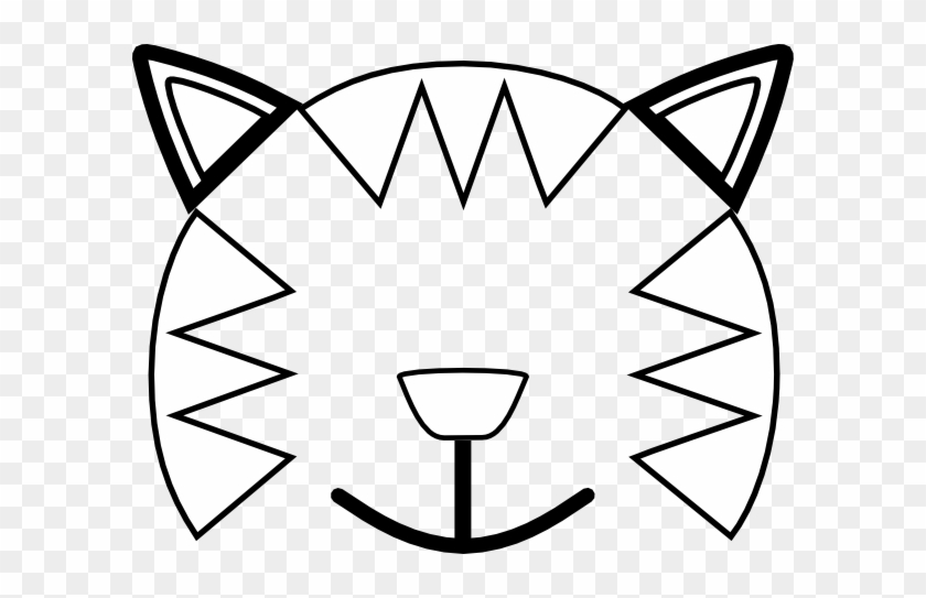 Totetude Cat Outline Face Clip Art Cat Face Coloring Pages Free