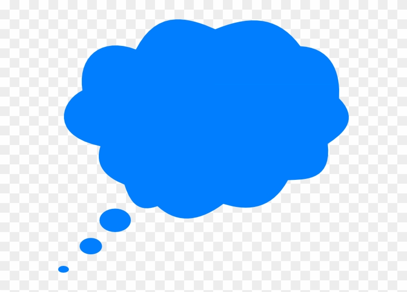 Thinking Bubble Without Shadow Blue Clip Art - Blue Thought Bubble Png #164323