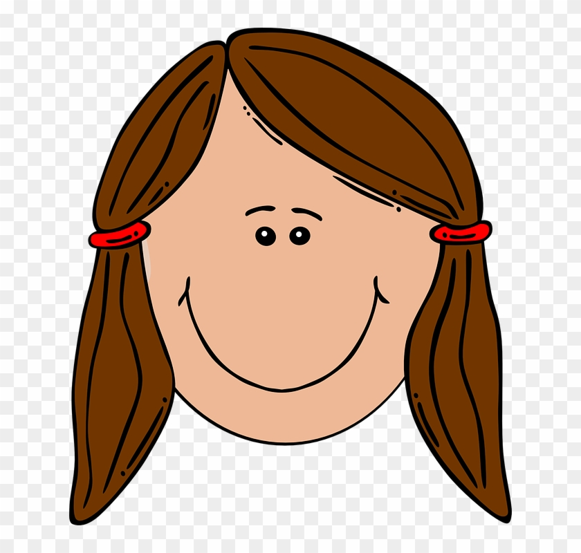 Girl Head Clipart - Sad Girl Face Cartoon #164467