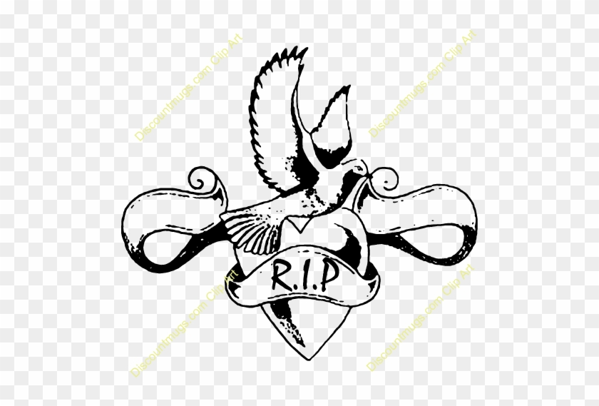In Loving Memory Clipart - Dove Tattoo #164482