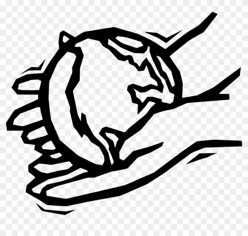 Earth World Hands Planet Globe Holding - Helping Hands Clip Art #164694