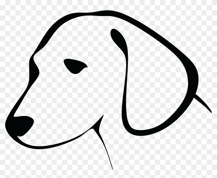 Free Clipart Of A Black And White Dog Head Dog Line Art Face Free Transparent Png Clipart Images Download