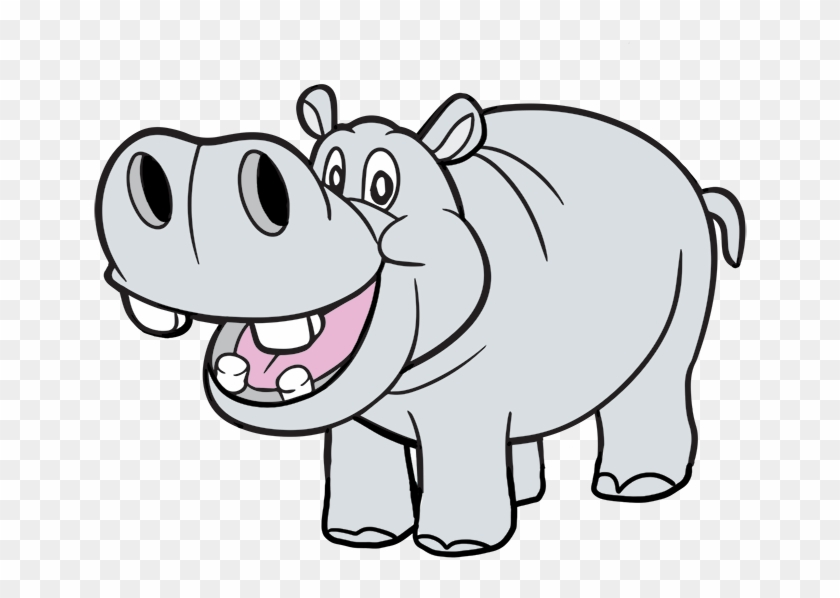 Hippo Head Clipart This Mfcooj Clipart - Hippo Coloring #164818