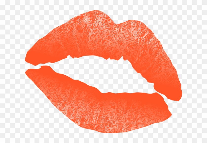 Adult Content Safesearch Kiss Mouth Lips Text Hugs - Orange Lips Png #164865