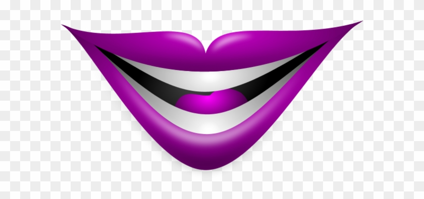 Purple Lips Clipart - Smiley Lips #165112