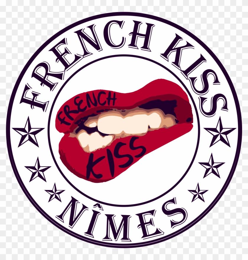 Créa Du Logo French Kiss Nîmes, Association Évènementiel - Label #165133