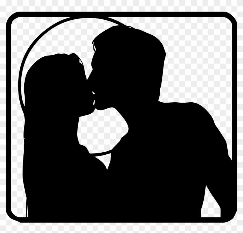Black Silhouette Of Kissing Couple Free Image - 石田 三成 の 妻 #165189