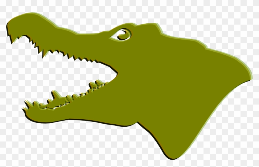 Images Of An Alligator - Crocodile Head Clip Art #165254
