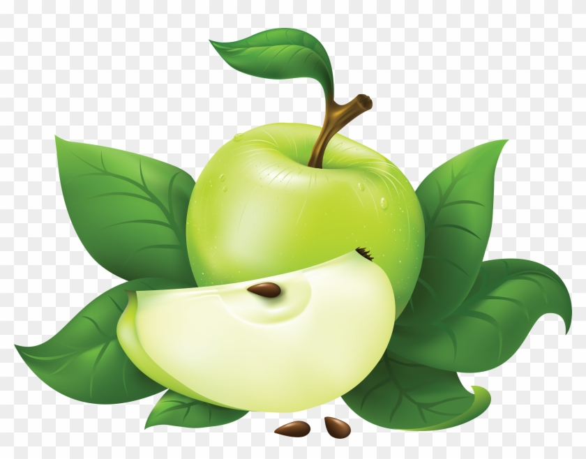 Download Green Apple Clipart - Green Apple Png #165428
