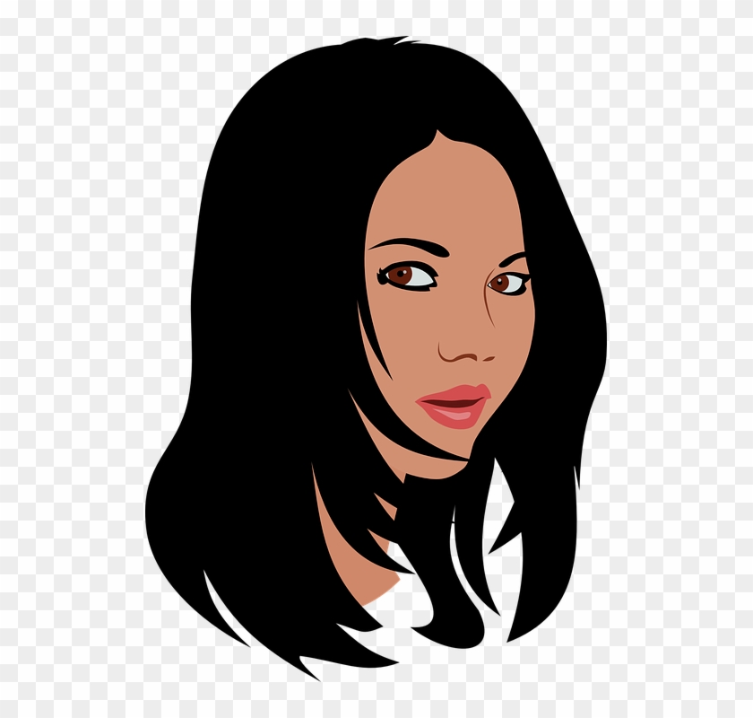 Free Vector Graphic Black Hair Clipart Png Free