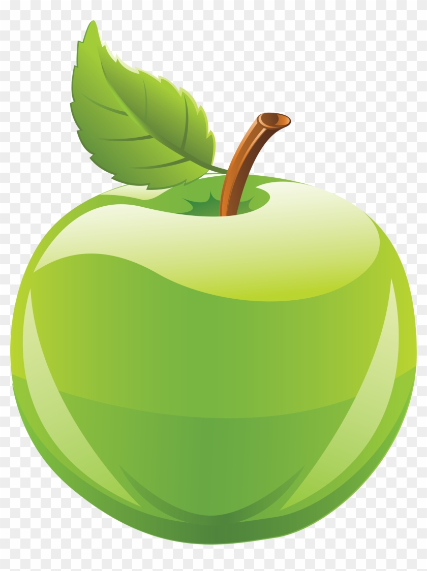 Fruits Green Apple Clipart - Green Apple Clipart Png #165491