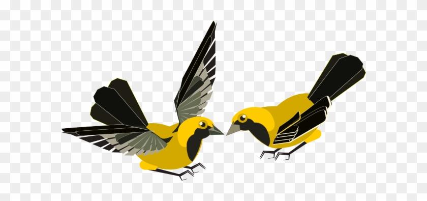 Kissing Birds Clip Art At Clker - 2 Bird Clipart #165724