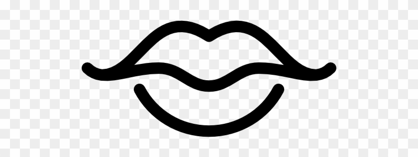 Size - Kiss Lip Icon Black And White #165772