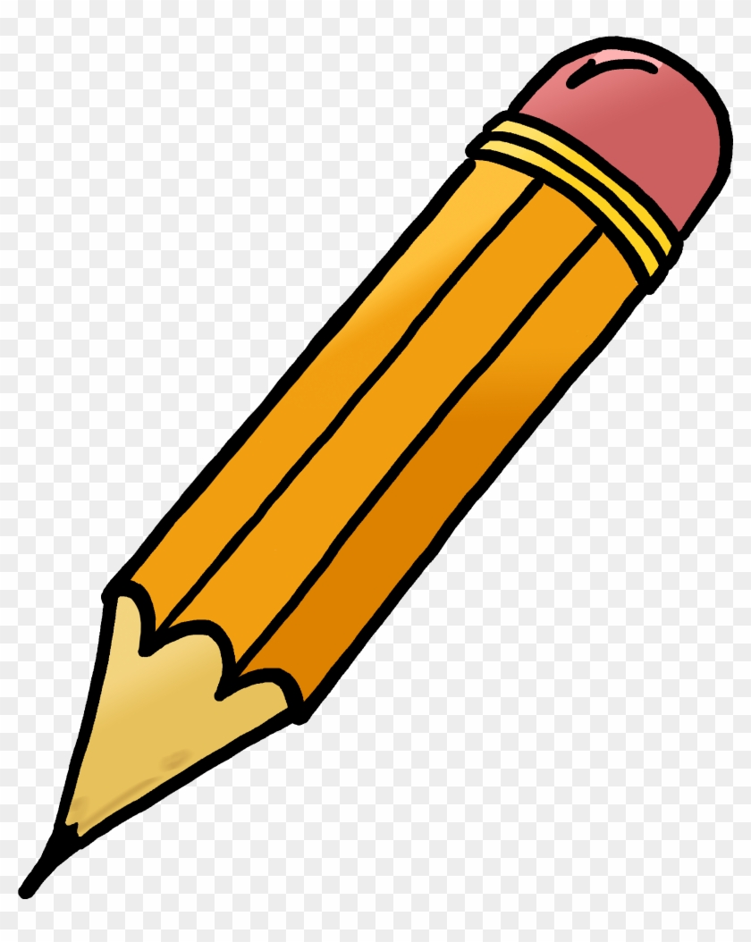 Pencil Clipart - Pencil With Eraser Clipart #165868