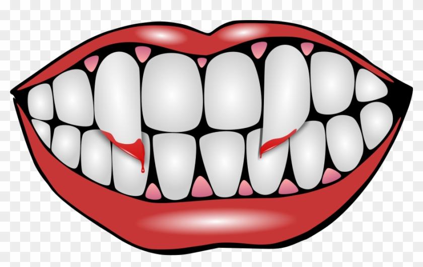 Cartoon Vampire Teeth Png Clip Arts For Web Vampire Evil Grin Wall