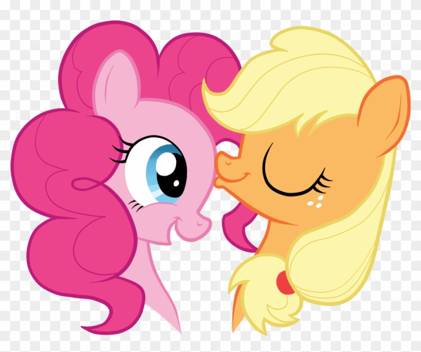 Applejack, Applepie, Artist - Pinkie Pie Kissing Applejack #166344