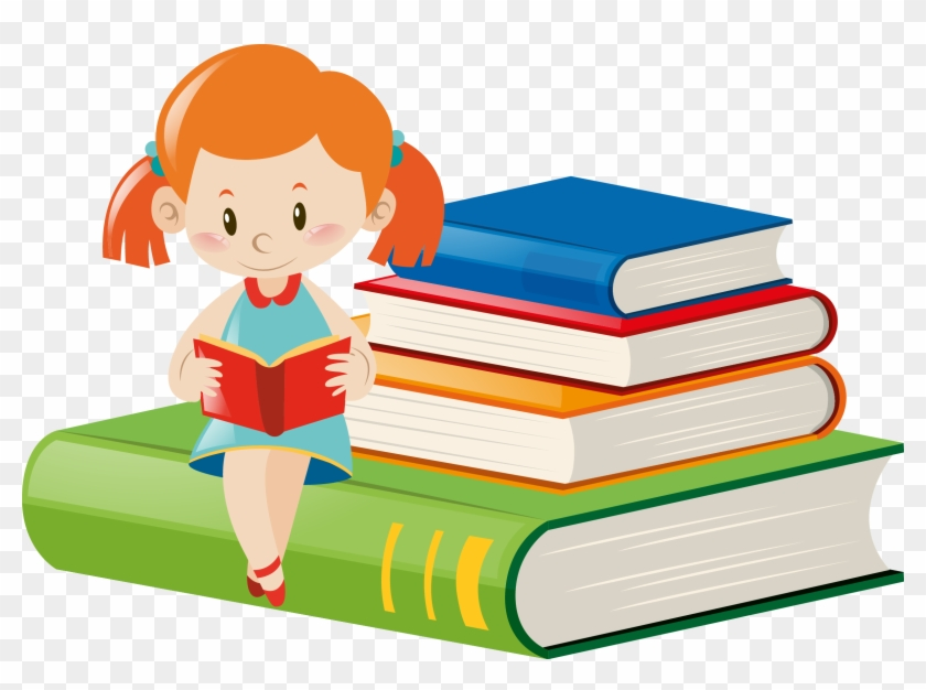 Royalty-free Girl Clip Art - Clipart Girl Reading Book #166355