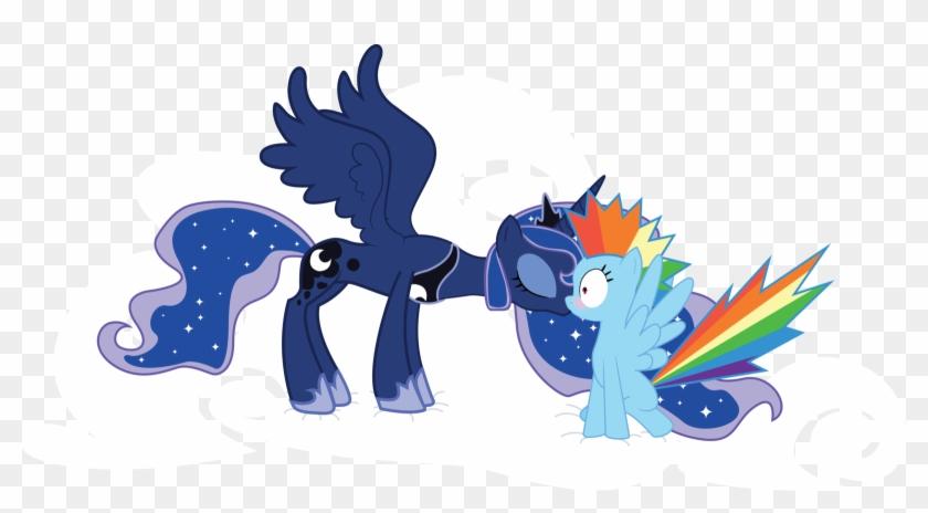 Lunadash Kiss By Onyx123 Lunadash Kiss By Onyx123 - Princess Luna And Rainbow Dash #166495
