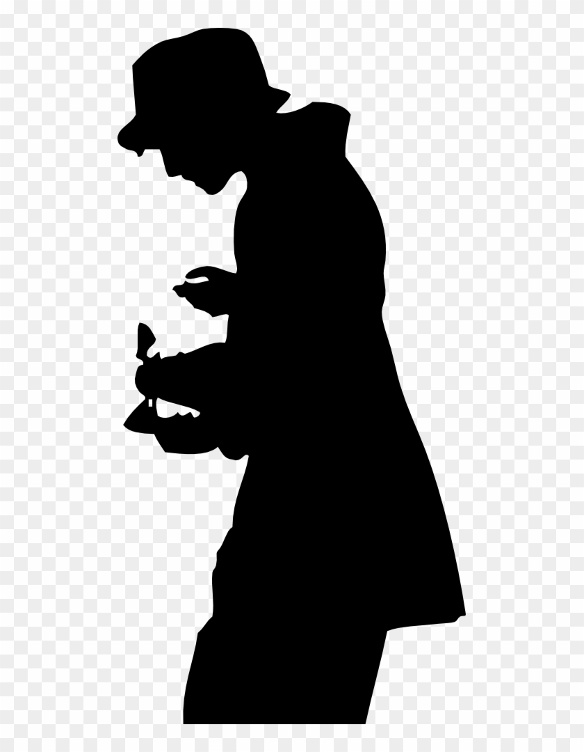 Clipart Silhouette Of A Person - Silhouette Man In Hat #166562