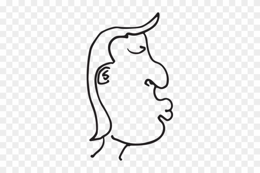 Cartoon Man With Lips - Eye #166708