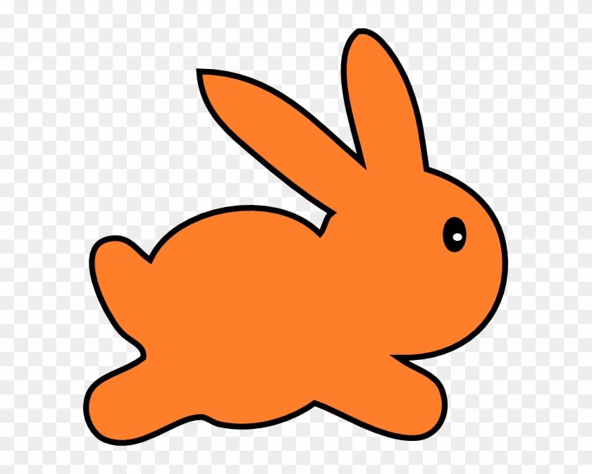 Orange Clipart Bunny - Orange Rabbit Clipart #167147