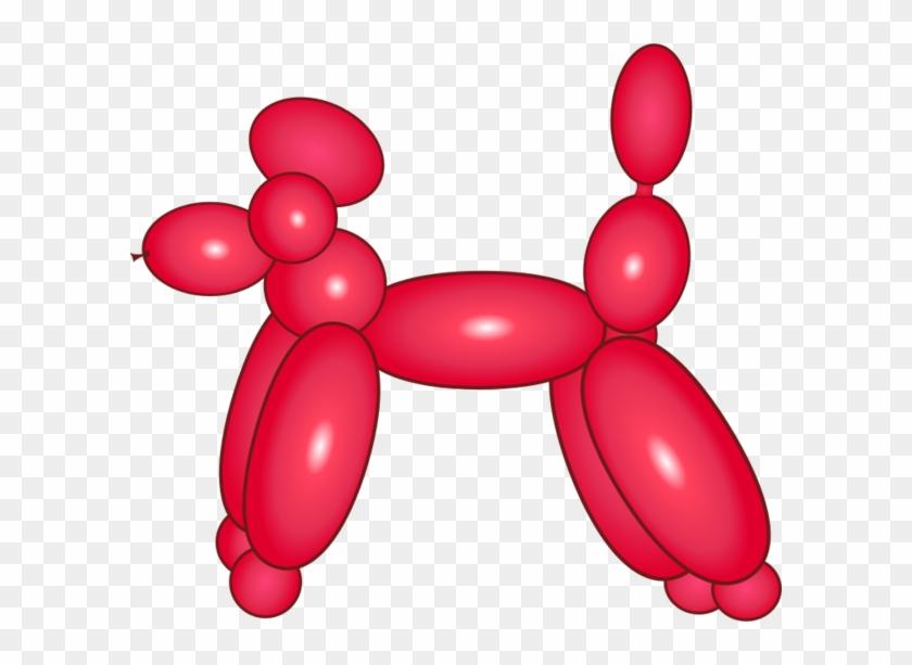 "Balloon Dog Cliparts - A&t Designs Dog Balloon Animal 3"" Sew #167183"