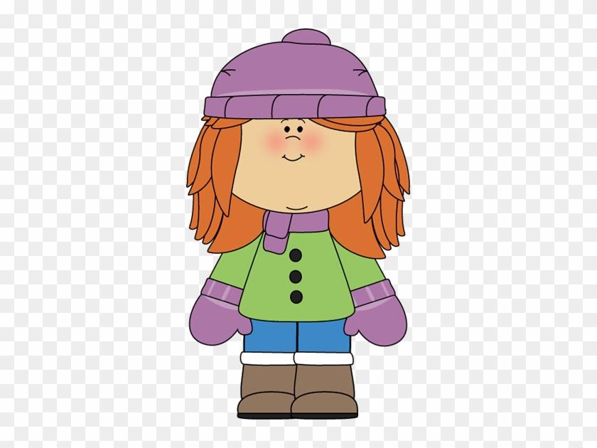 Little Girl Clipart Winter - Winter Girl Clipart #167304