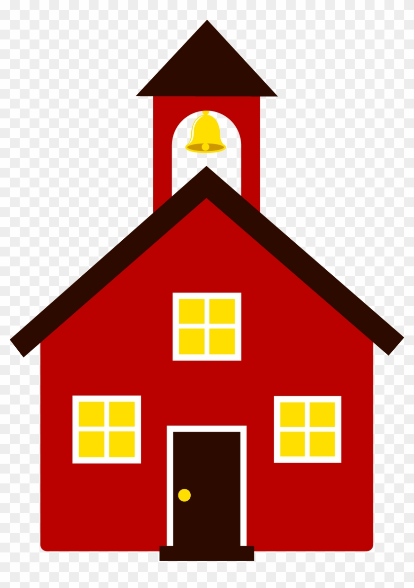 Cute House Clipart - Little Red School House Clip Art #167369