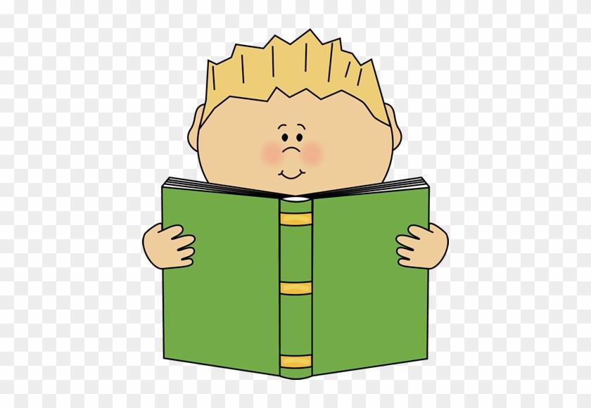 Children Reading Book Clipart - Boy Reading Clip Art #167417