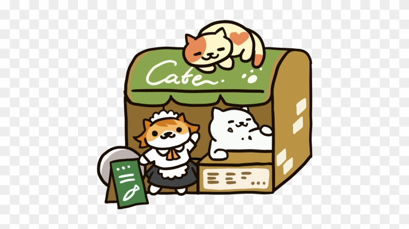 Going Out To Eat Clipart - Neko Atsume Cafe Style #167559
