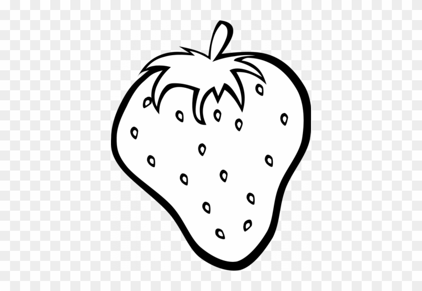 Strawberry - Clipart - Black - And - White - Fruits Clipart Black And White #167694