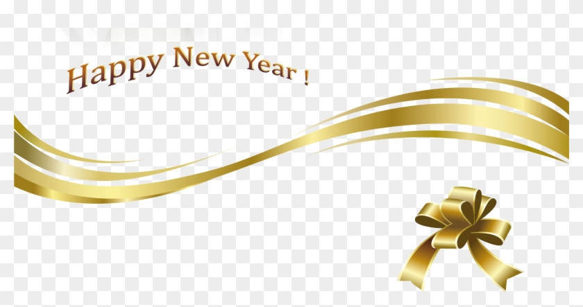 Gold New Year Png Images Happy Holidays Pictures - Happy New Year Png Text #167821