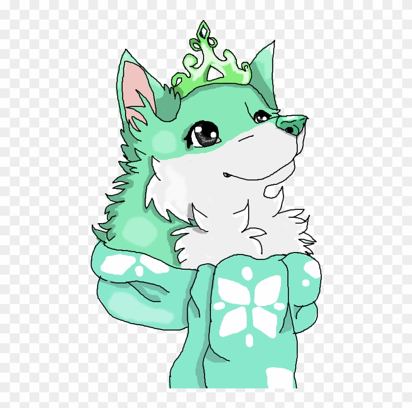Blue And White Arctic Wolf From Animal Jam