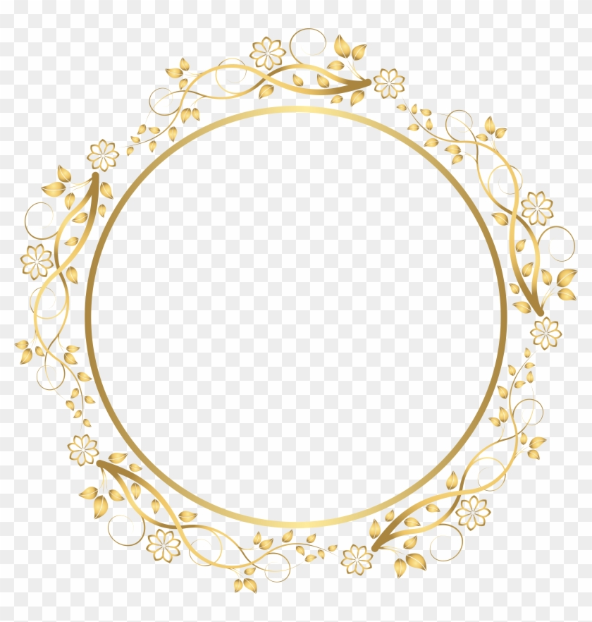 Round Floral Shadows French Border Png Pictures - Gold Floral Border Png #168194
