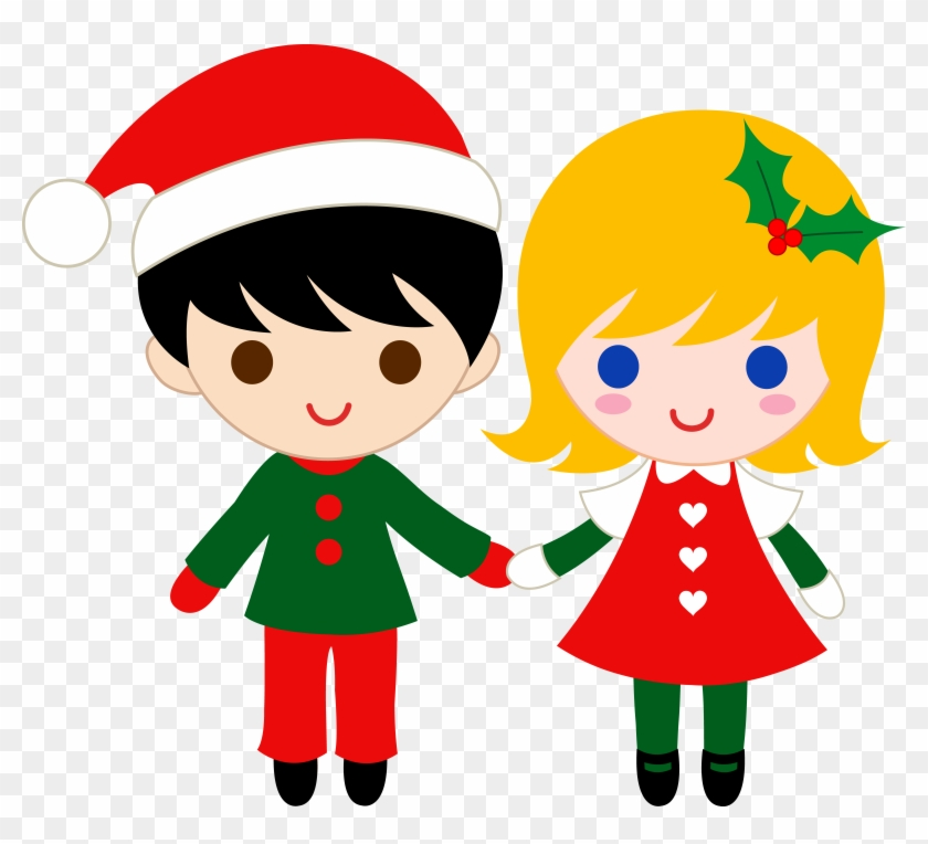Kid Clip Art - Boy And Girl Holding Hands Clipart #168297