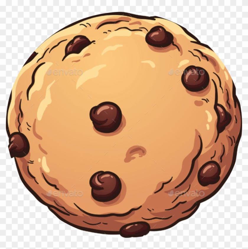 Cookie Sandwich £7 - Chocolate Chip Cookie Cartoon #168302
