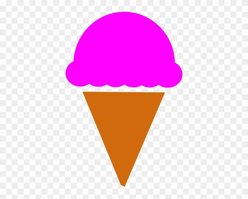 Ice Cream Scoop Clipart - Ice Cream Cone Silhouette #168320