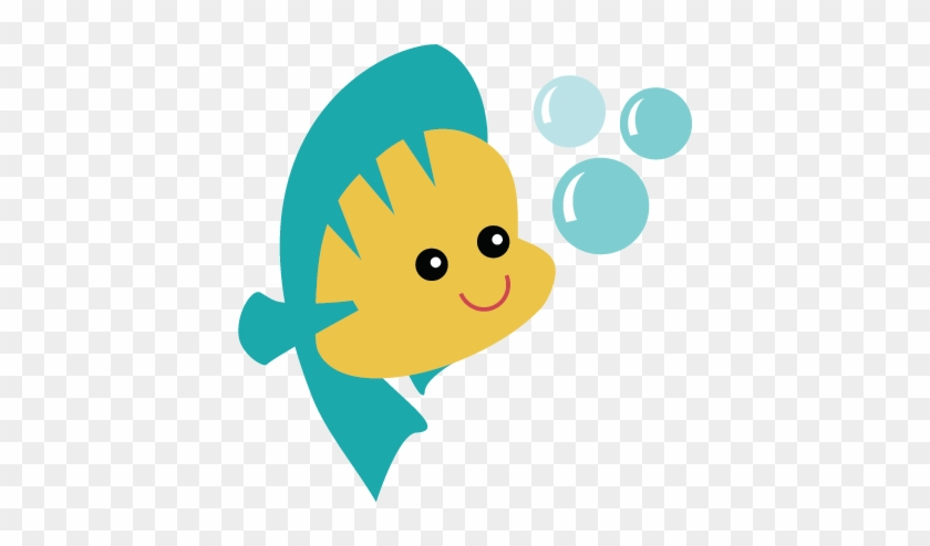 Fish Svg File For Scrapbooking Cardmaking Cute Fish - Little Mermaid Cute Png #168363
