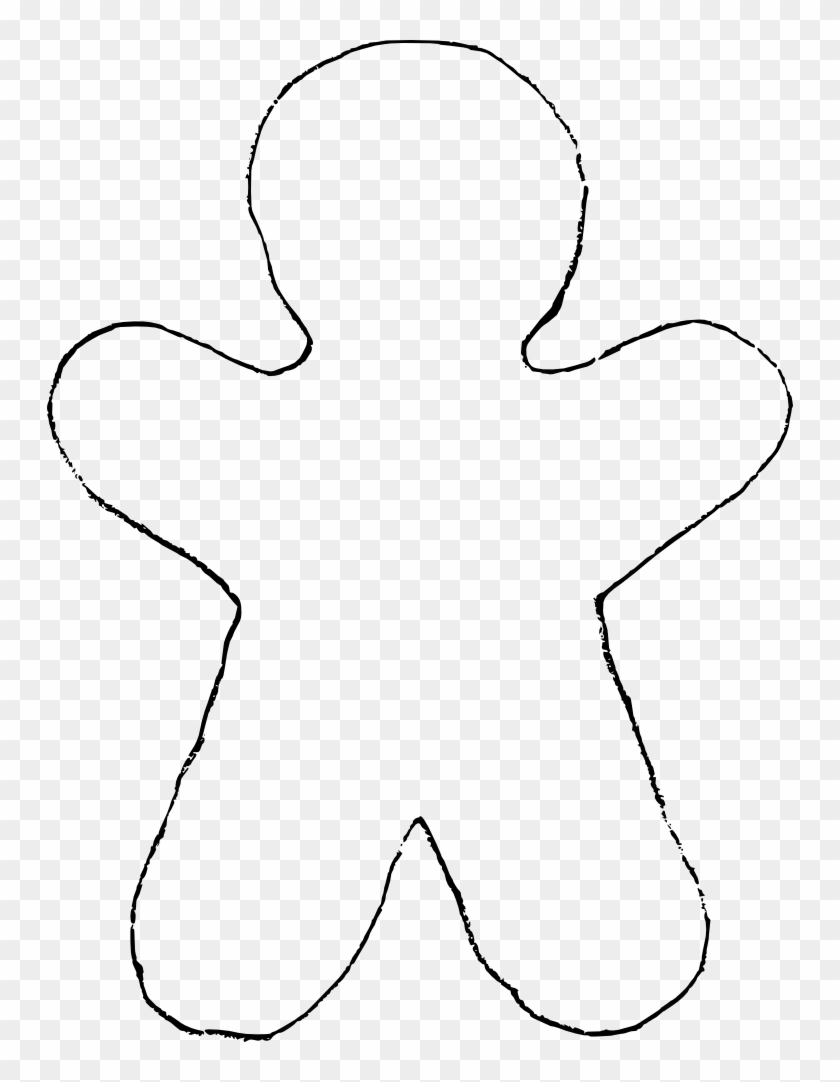 Free Gingerbread Man Clip Art Gingerbread Man Cookie Template