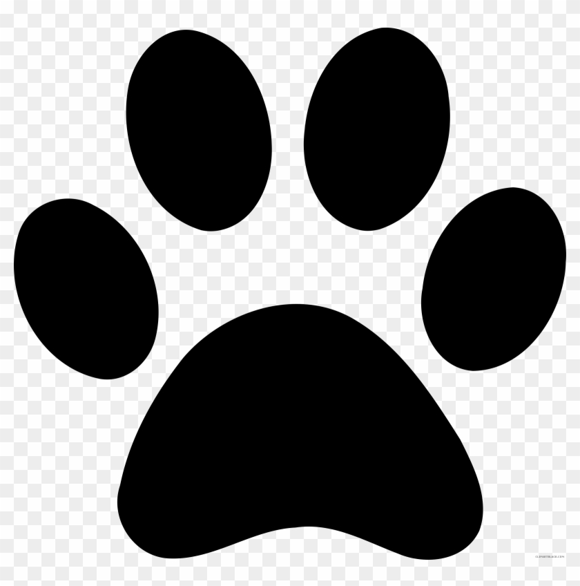 Paw Print Animal Free Black White Clipart Images Clipartblack - Paw Print #168621