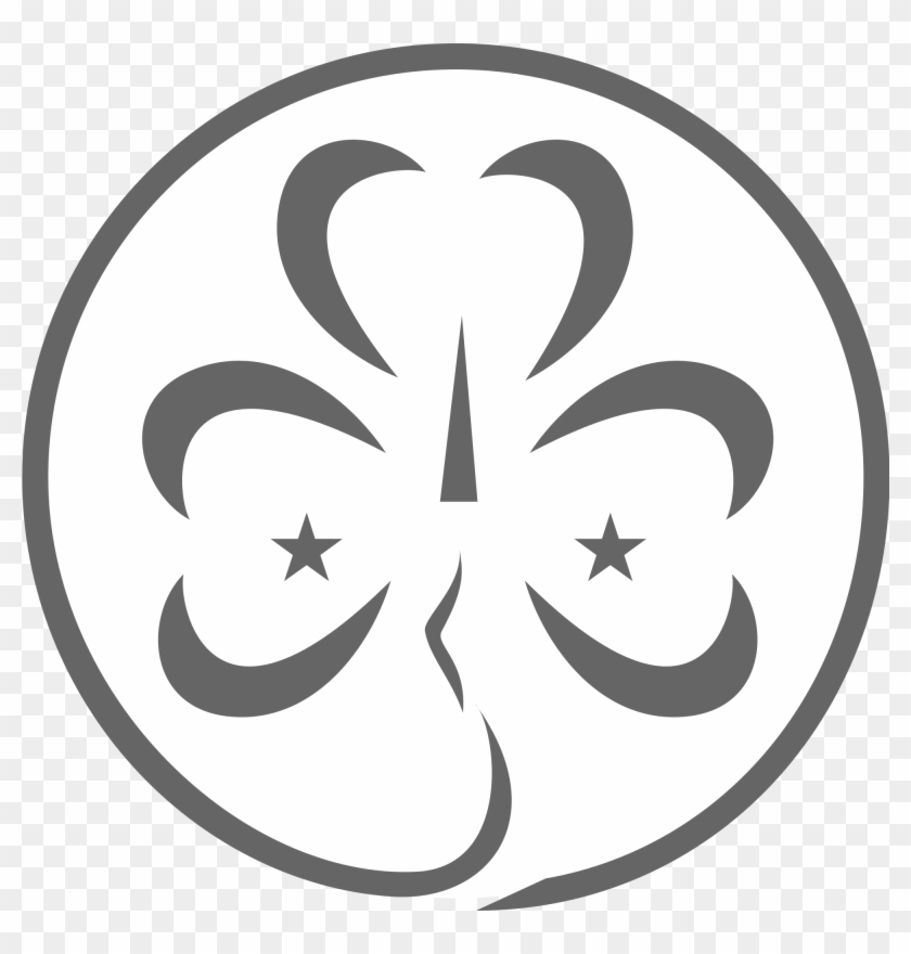 Filewikiproject Scouting Trefoil Greyscale World Association Of