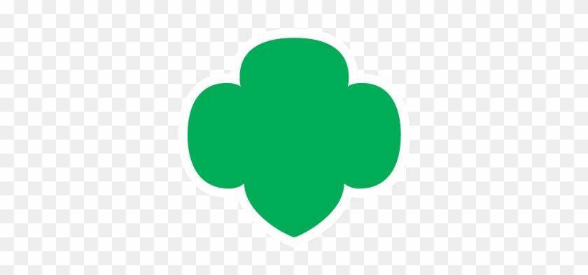 Green Trefoil With White Border Girl Scout Trefoil Free